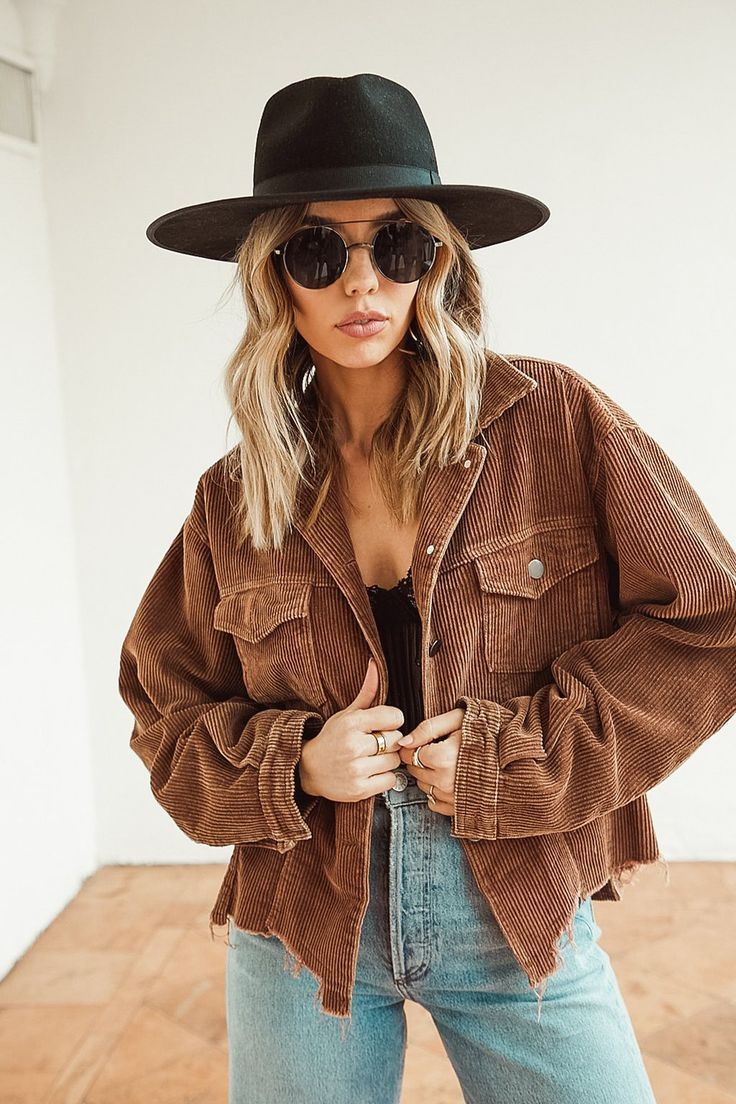 Not Your Boyfriend's Chocolate Corduroy Jacket