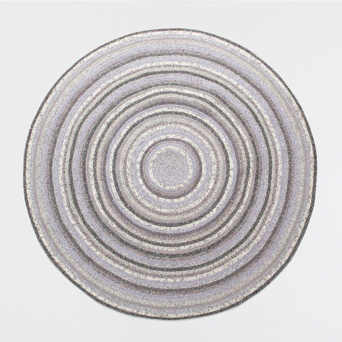 Alfombra redonda multicolor alfombras decoraci n - Alfombras redondas ...