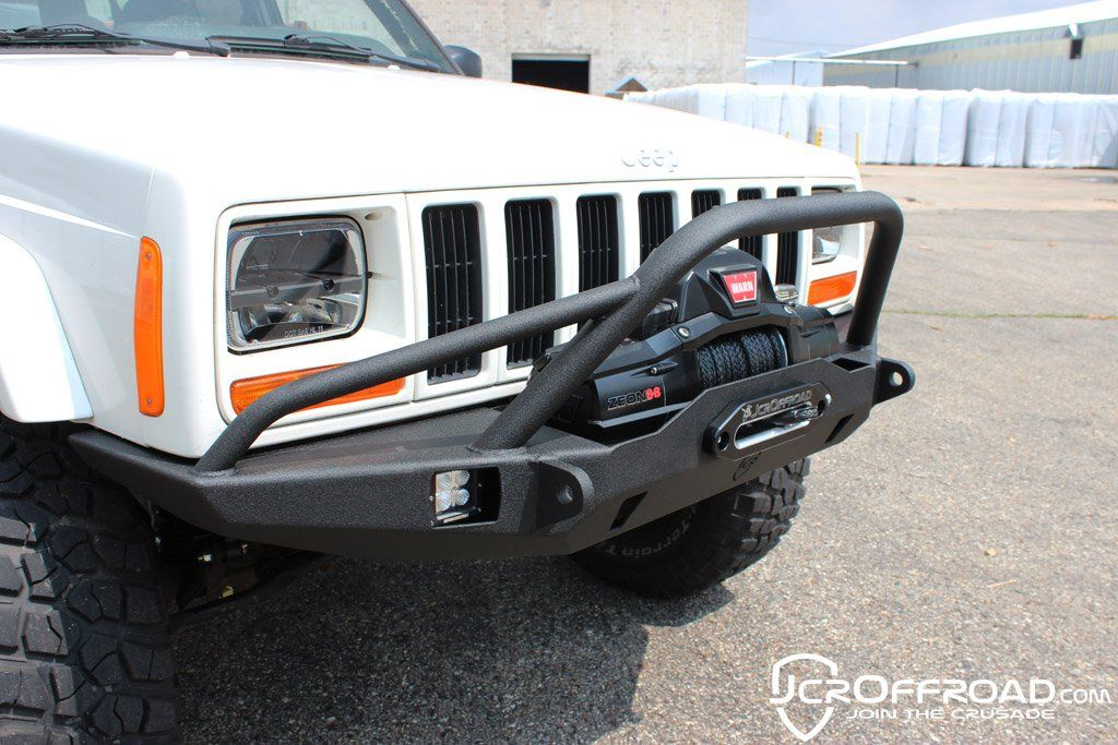 Jeep Xj Winch Bumper Vanguard Prerunner Cherokee 84 01 With Images Jeep Xj Jeep Jeep Bumpers