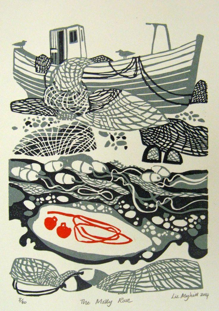 Liz Myhill: New Linocut Prints