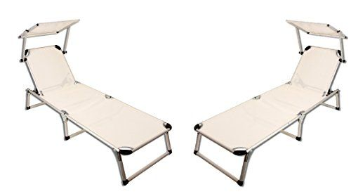 2 Er Set Alu Sonnenliege Strandliege Gartenliege Liegestuhl Sonnendach Beige Amazon De Kuche Haushalt Sonnenliege Gartenliege Sonnendach