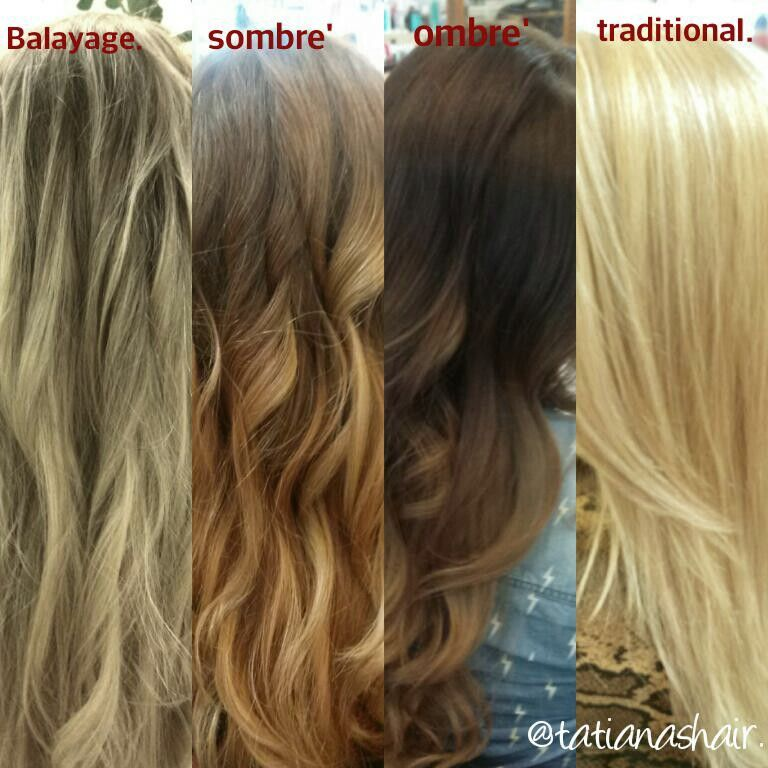 Difference Between Balayage Ombre Sombre And Traditional Highlights Lates Hair Trend I Hope This Will Help Ombre Balayage Balayage Sombre Hair