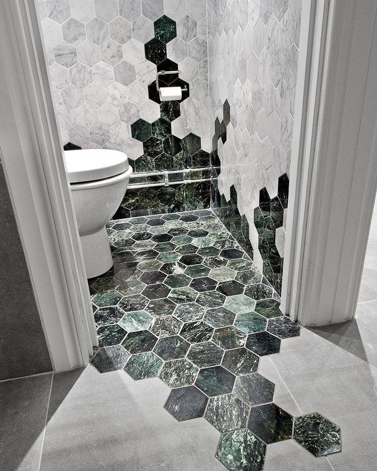 Cascading octagonal tile in bathroom decorations living room Cant afford to have something like this done Get the floor you want with a Vinyl warp