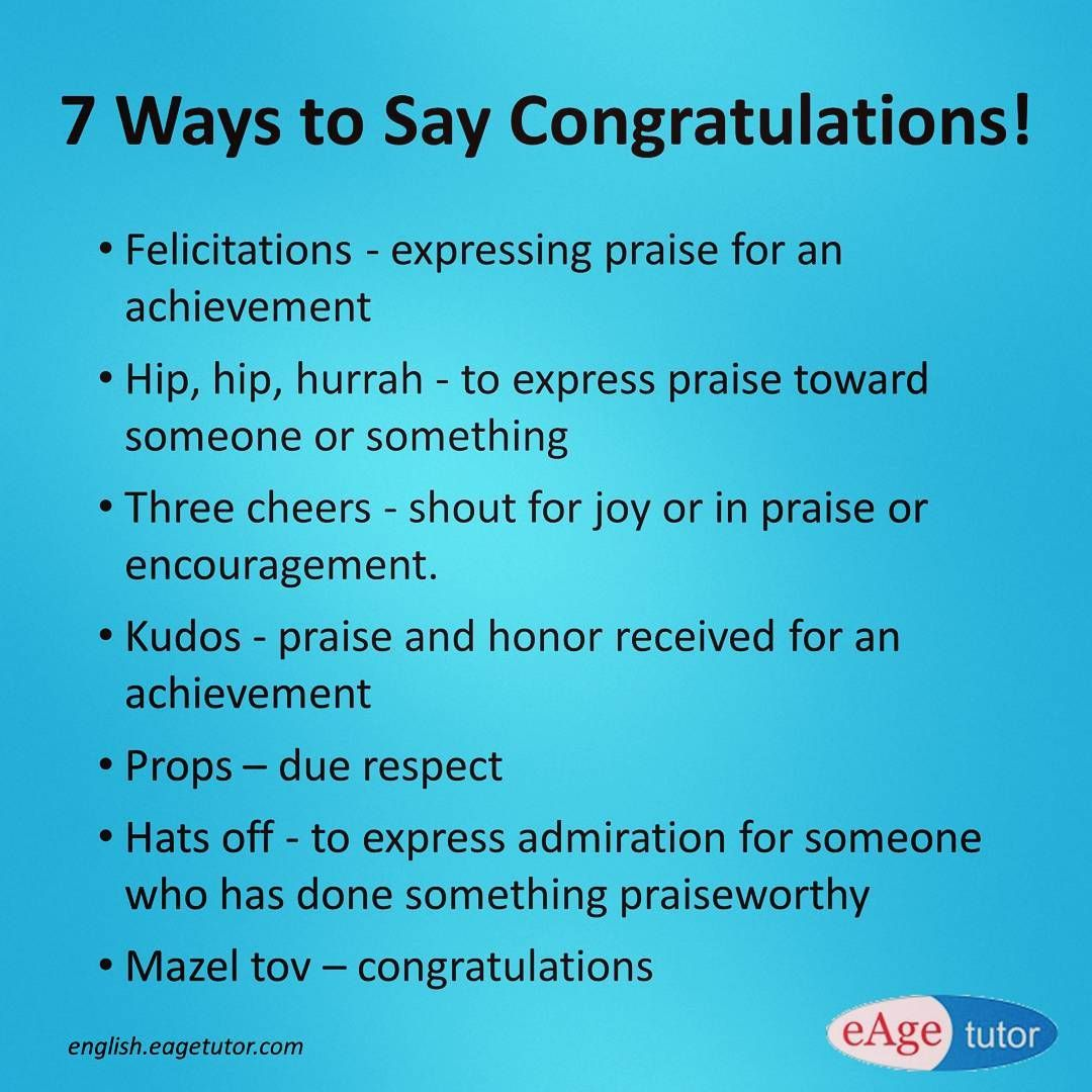 next time when you congratulate your friend use these words instead