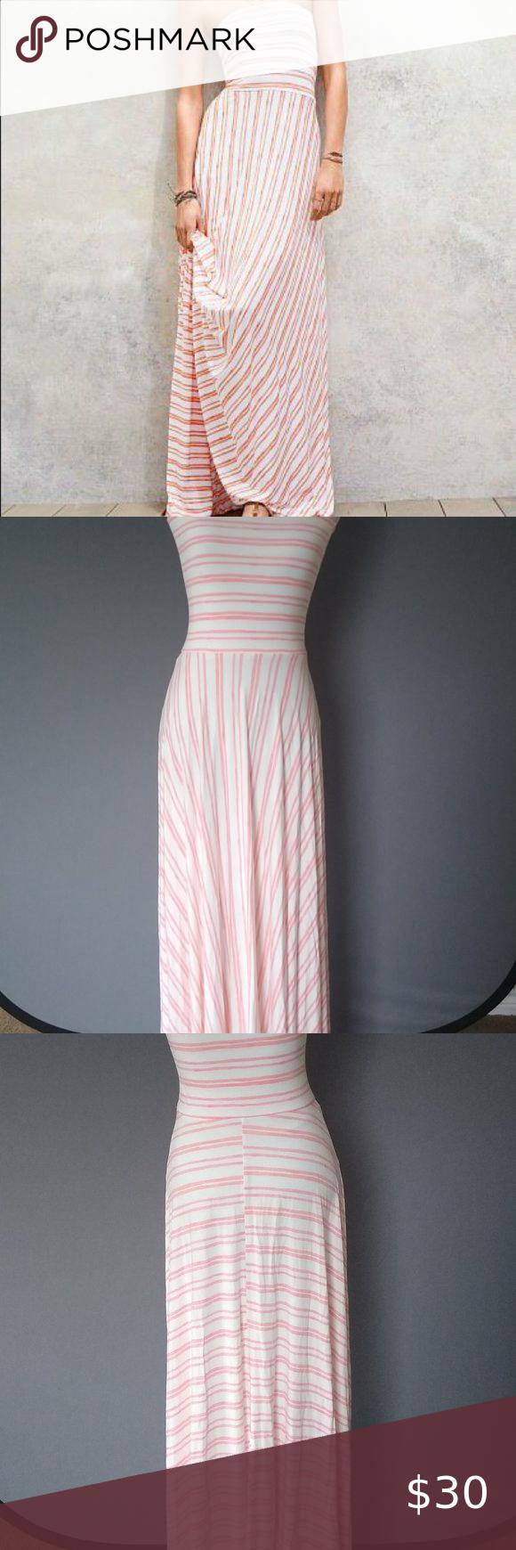 Victoria S Secret Striped Fold Over Multi Way Maxi Striped Maxi Dresses Tea Length Dresses Victoria Secret [ 1740 x 580 Pixel ]