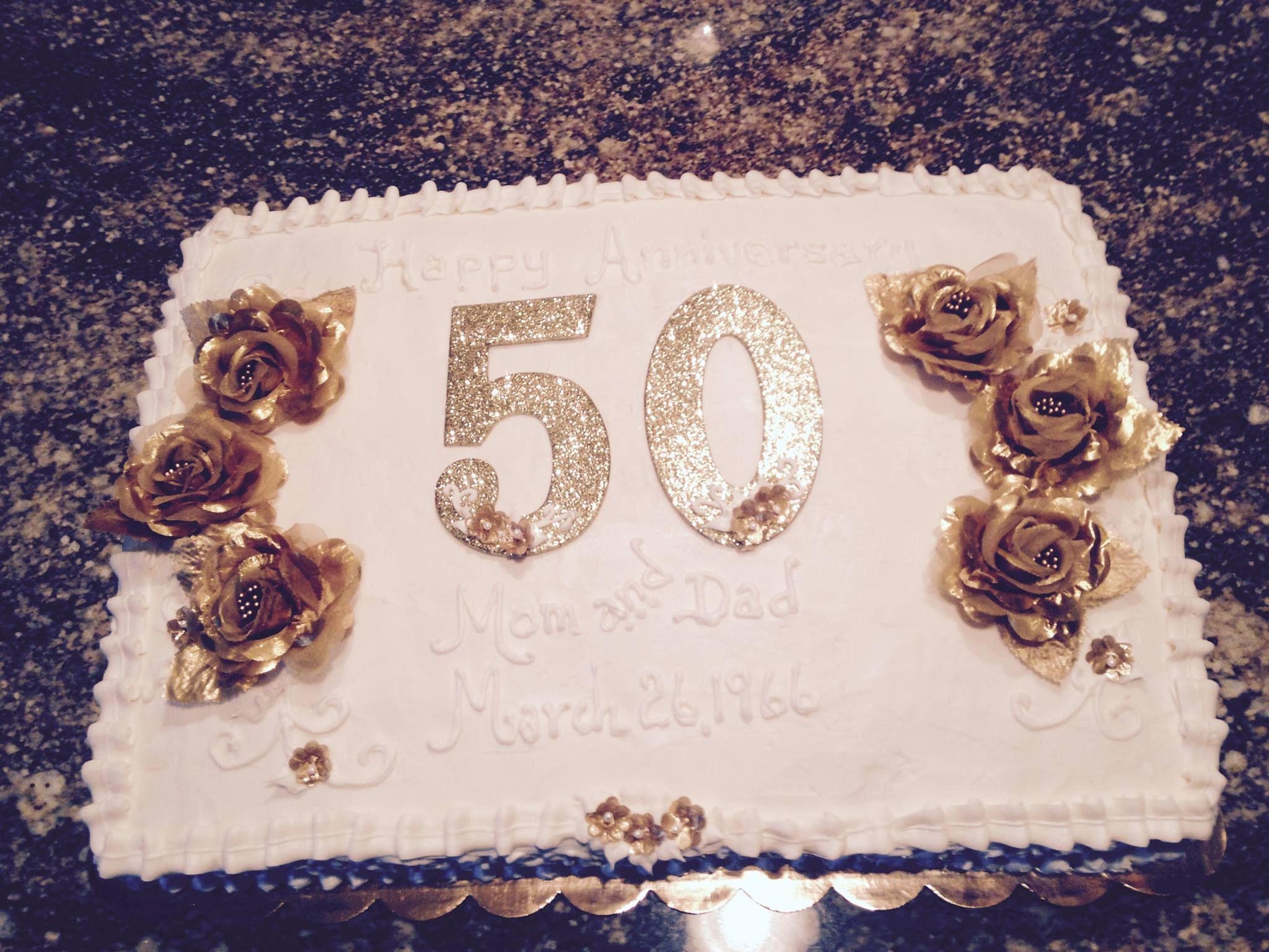 50th Wedding Anniversary Sheet Cake | 50th Anniversary Sheet Cake ...