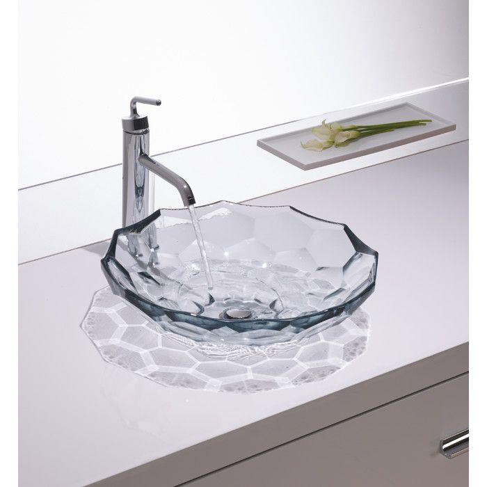 Kohler Briolette Vessel Faceted Glass Bathroom Sink & Reviews Brilliant Wayfair Bathroom Sinks Design Decoration