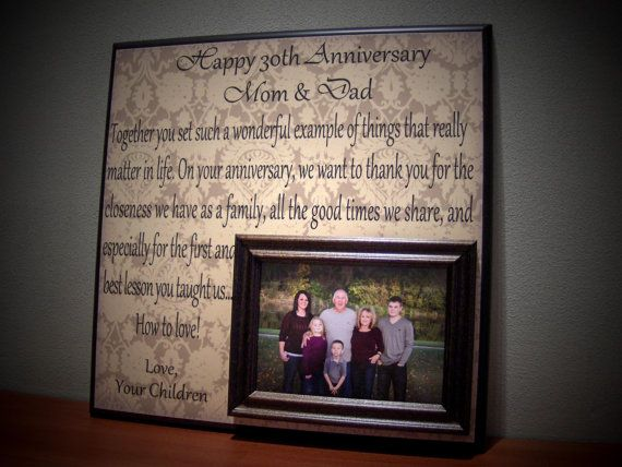 Pearl Gift Ideas For 30th Wedding Anniversary: Personalized Anniversary Frame, Wedding Anniversary