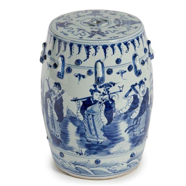 Blue White Qing Dynasty Ceramic Garden Stool White Garden Stools Blue And White White Ceramic Stool