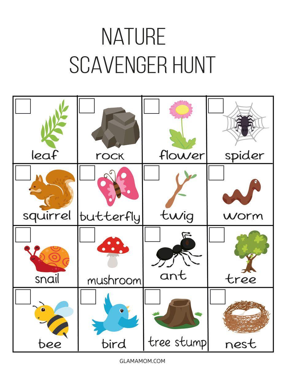Kids Outdoor Scavenger Hunt   Outdoor scavenger hunts ...