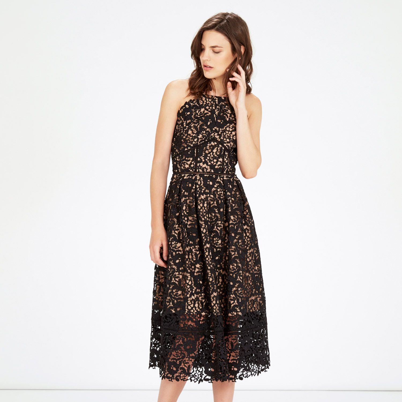 Warehouse Lace Halter Dress Black 1 Formal Dresses Pinterest