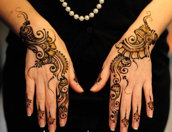 Bridal Mehndi Gta : Indian simple mehndi designs for hands latest