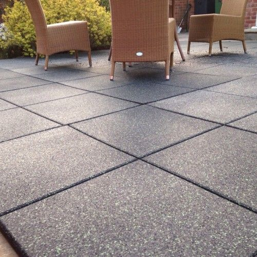 PIN 5 Patio Tiles Made From Rubber, These Would Be Very Child Friendly.