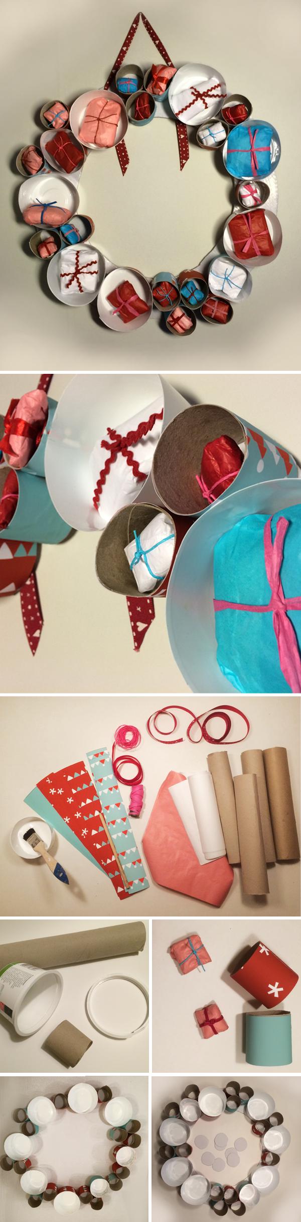 Joulukalenteri WC-paperirullista ja muovipurkeista. lasten | askartelu | joulu | käsityöt | koti | joulukalenteri | kierrätys | DIY ideas | kid crafts | christmas | home | calendar | recycling | recycled materials | Pikku Kakkonen