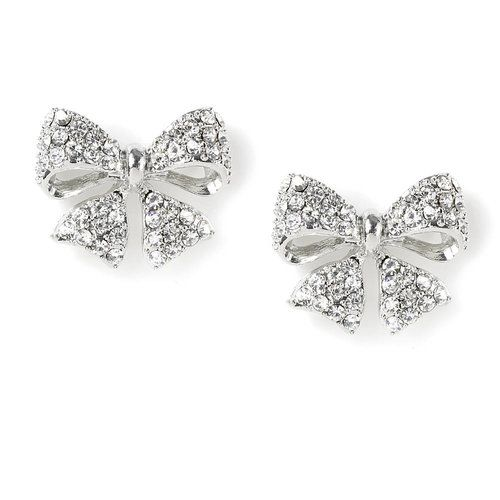 29db20eed Sparkly Bow Stud Earrings | Claire's | Jewelry | Jewelry, Earrings ...