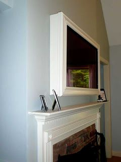 Wall-Mounted TV Frame/disguise ~ Would be a nice option if we decide to put the tv over the fireplace