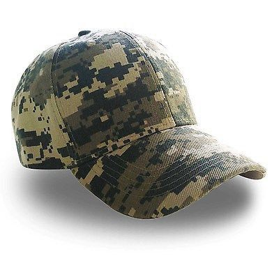 Solid /& Hunting Camo Style Adjustable Fit Baseball Style Ball Cap Hats Outdoor