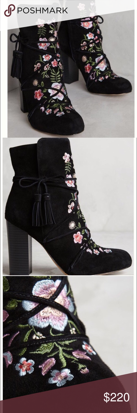 276f700e0 Anthropologie Winnie embroidered suede boots NEW The coveted Winnie Suede  Boots from Sam Edelman for Anthropologie. Brand new in box