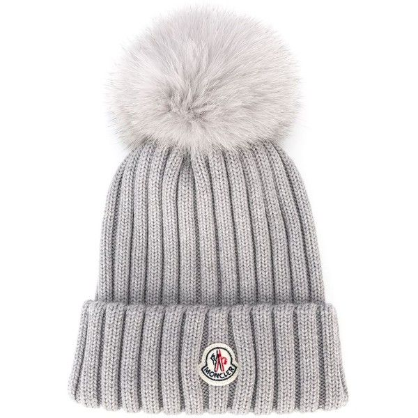 Moncler bobble top beanie (£215) ❤ liked on Polyvore featuring accessories 5e9d56260c3