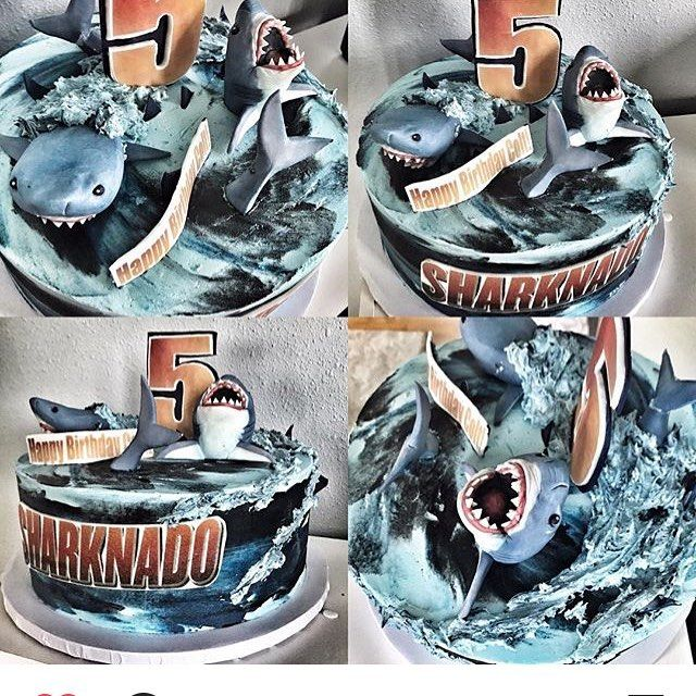 How Brilliant Is This Sharknado Cake By Dessertmommy Sharks By