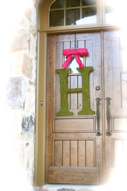 Moss Covered 24 inch Wedding Door Initials Letters Monogram  sc 1 st  Pinterest & Moss Covered 24 inch Wedding Door Initials Letters Monogram | Door ...