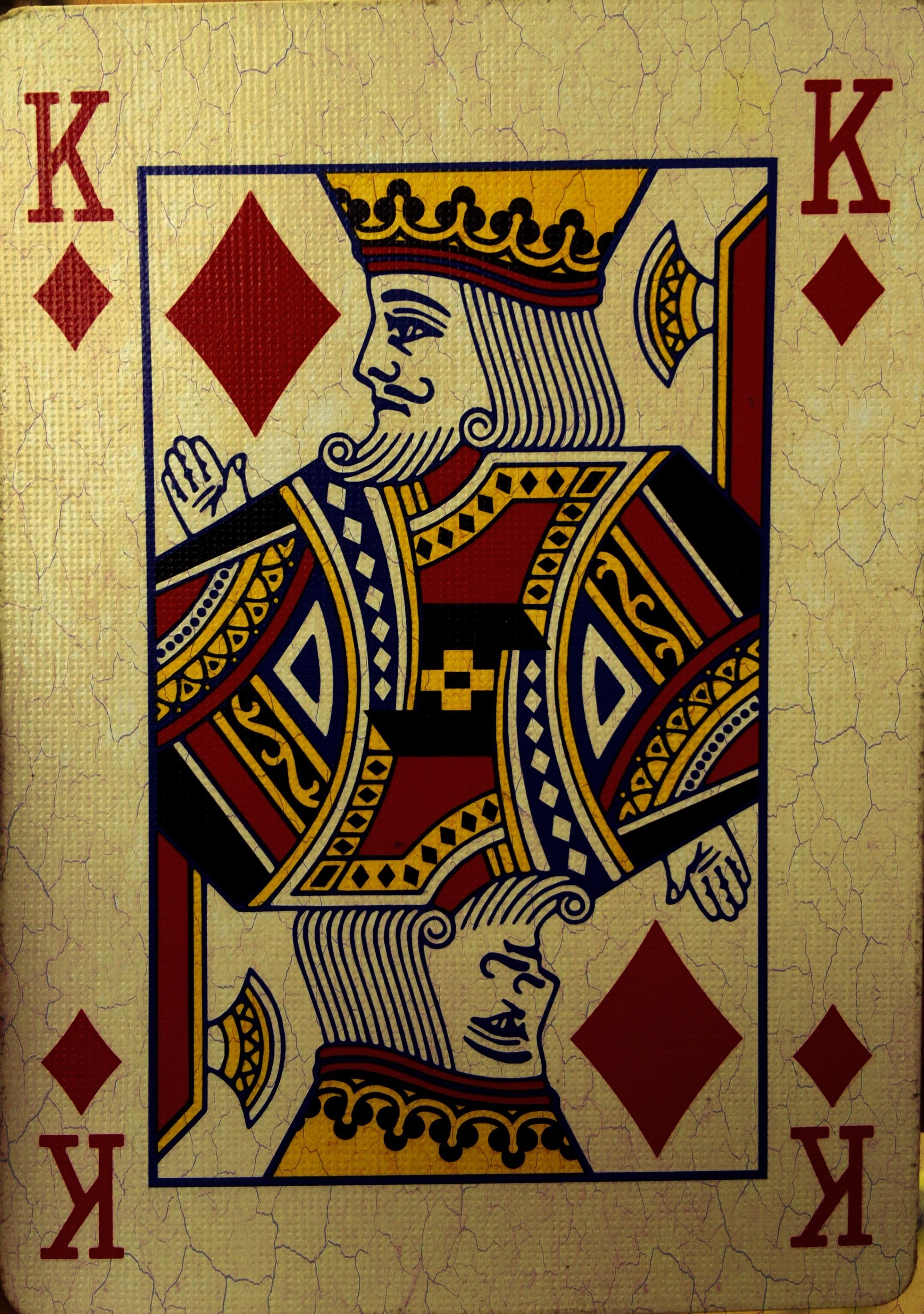 King Of Diamonds Cards Background Playing Cards