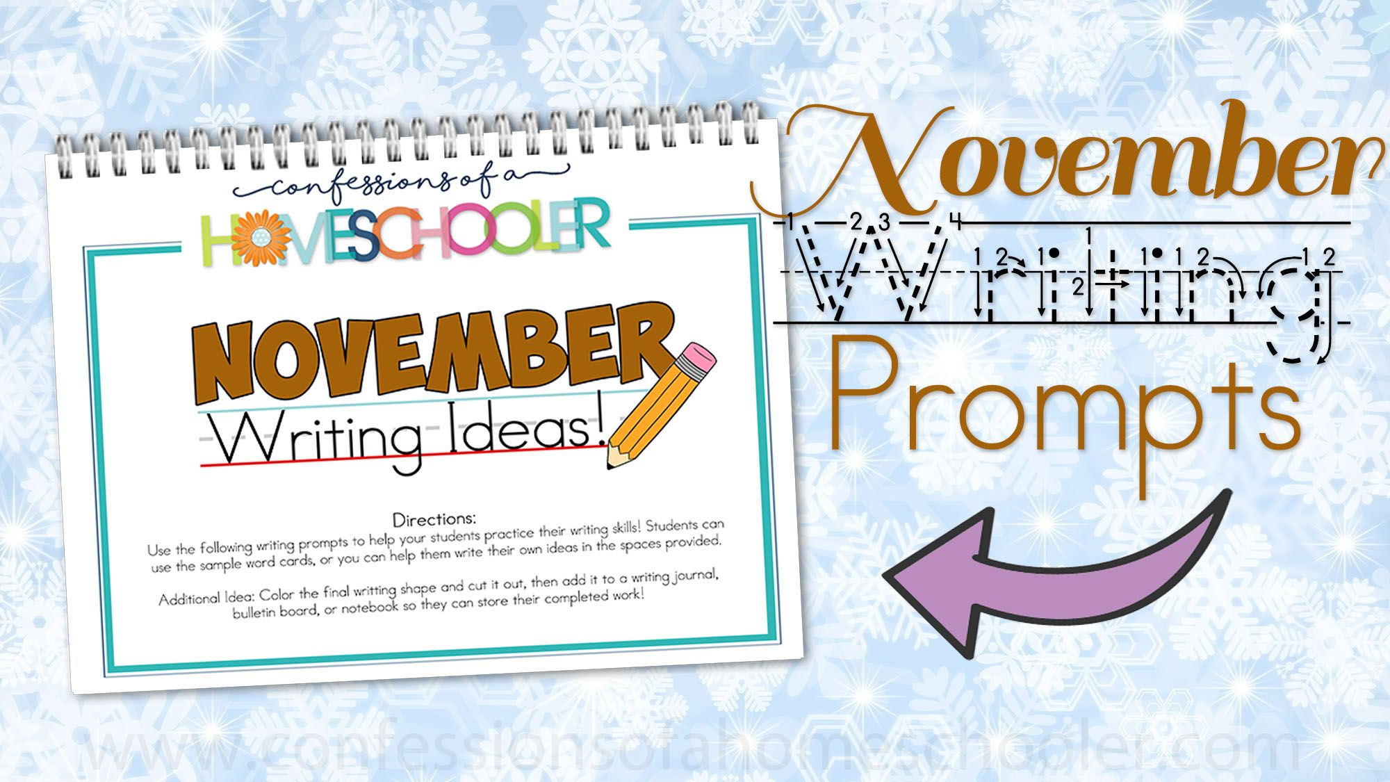 November Kindergarten Writing Prompts Is A Post From