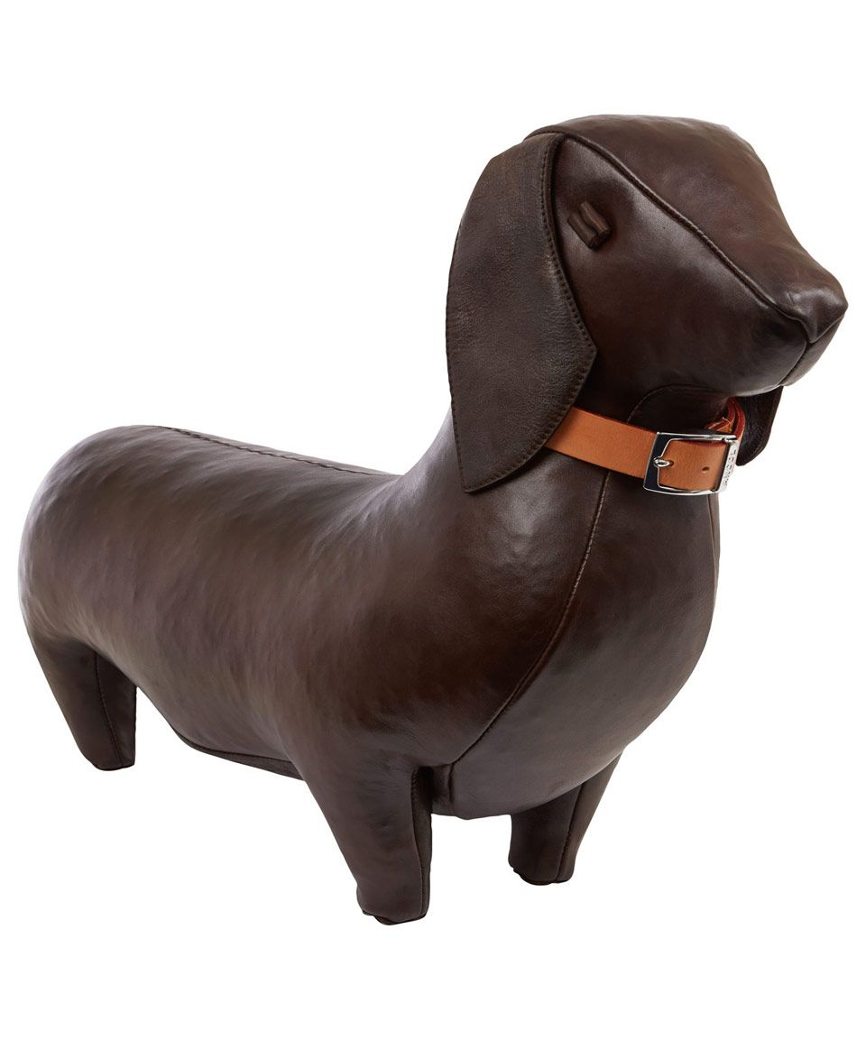 Dachshund Home Decor Omersa Standard Brown Leather Dachshund Can Be Used As A Foot