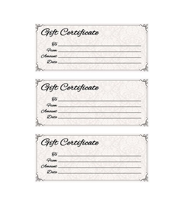 Classic Antique Gift Certificate Places To Visit Gift