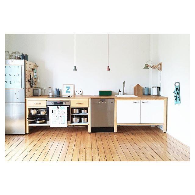 Guten Morgen aus der Küche - heute mal die gesamte Modulküchenzeile ...