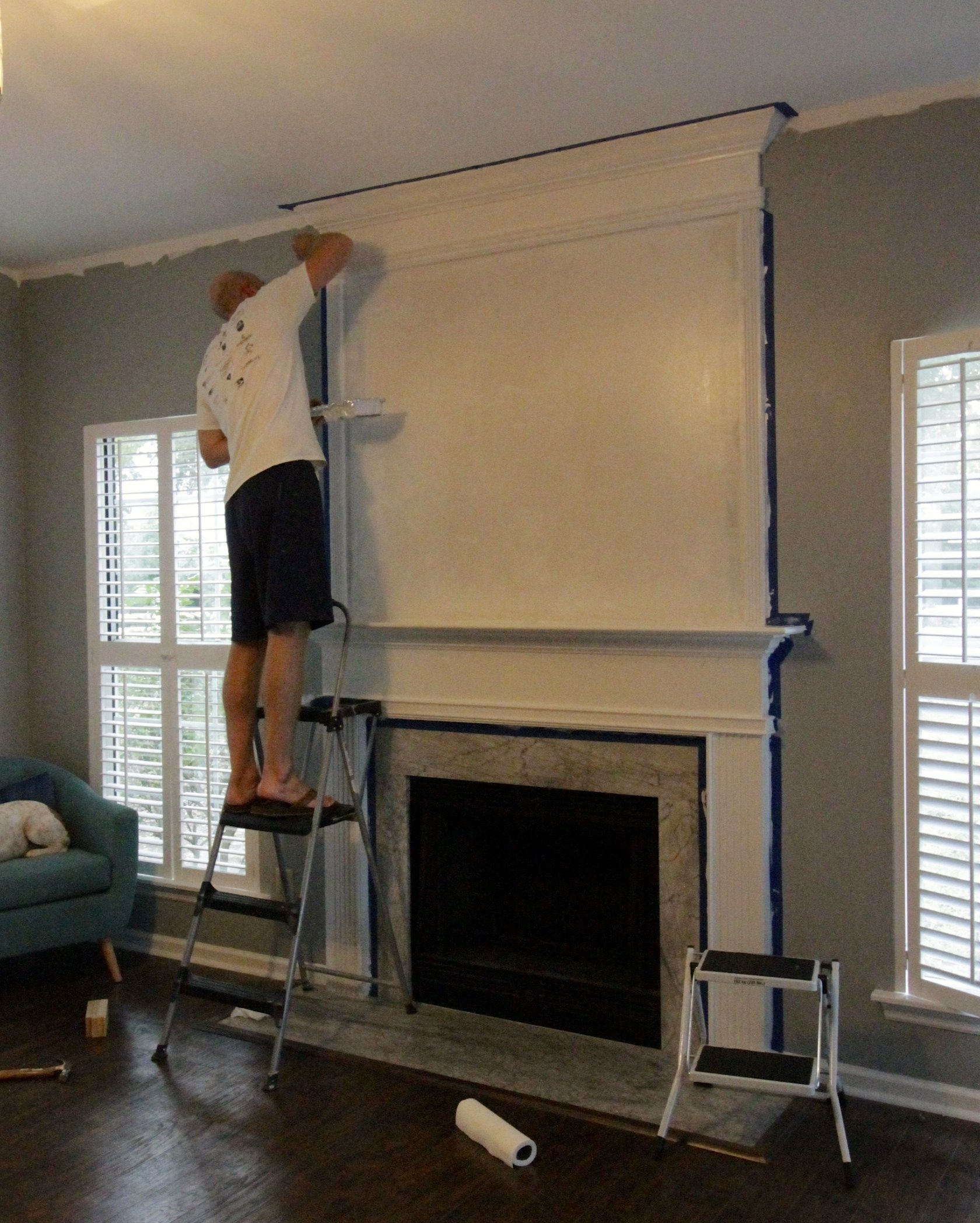 simple but dramatic diy fireplace update fireplaces mantels