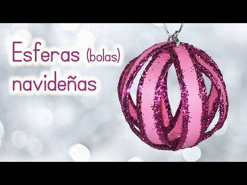 Manualidades para Navidad ESFERAS NAVIDEÑAS (BOLAS) de material - manualidades para navidad