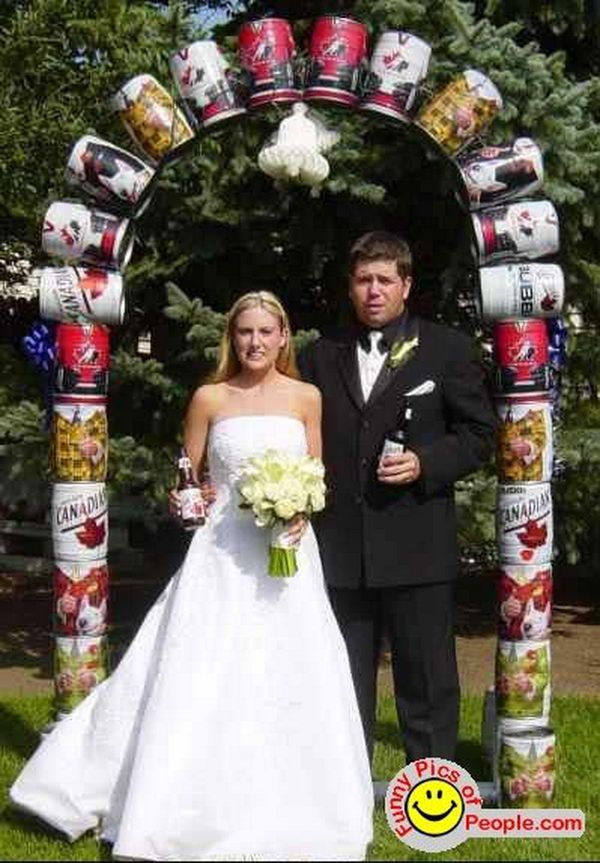 Beer Can Wedding Arch, oh wait...this is rodneys wedding not ...