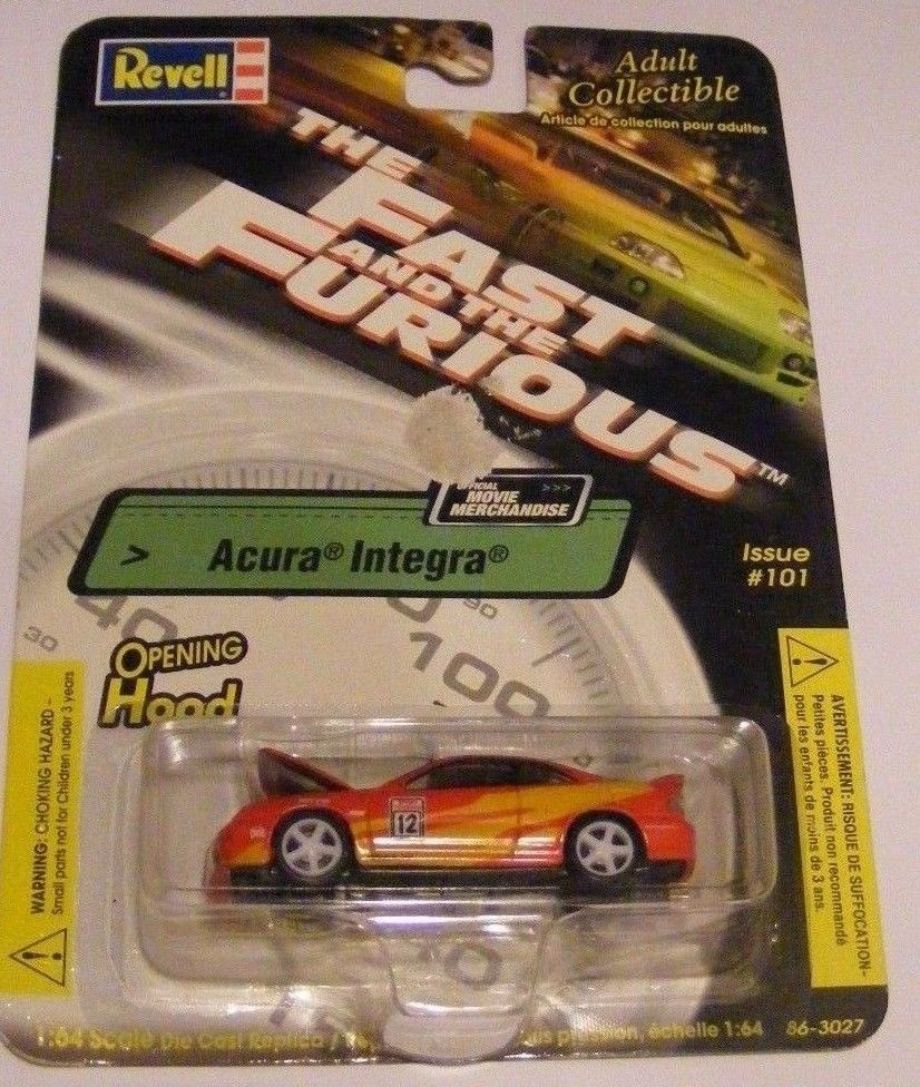 "REVELL ISSUE ""THE FAST AND THE FURIOUS"" ACURA INTEGRA #101"