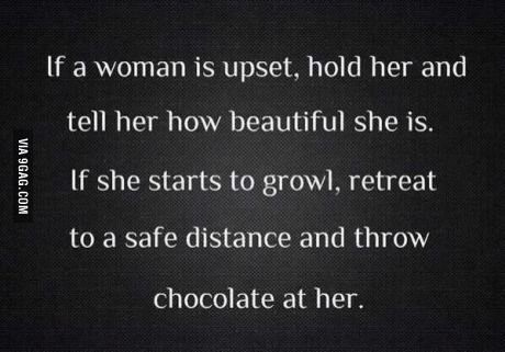 What to do when a woman is upset