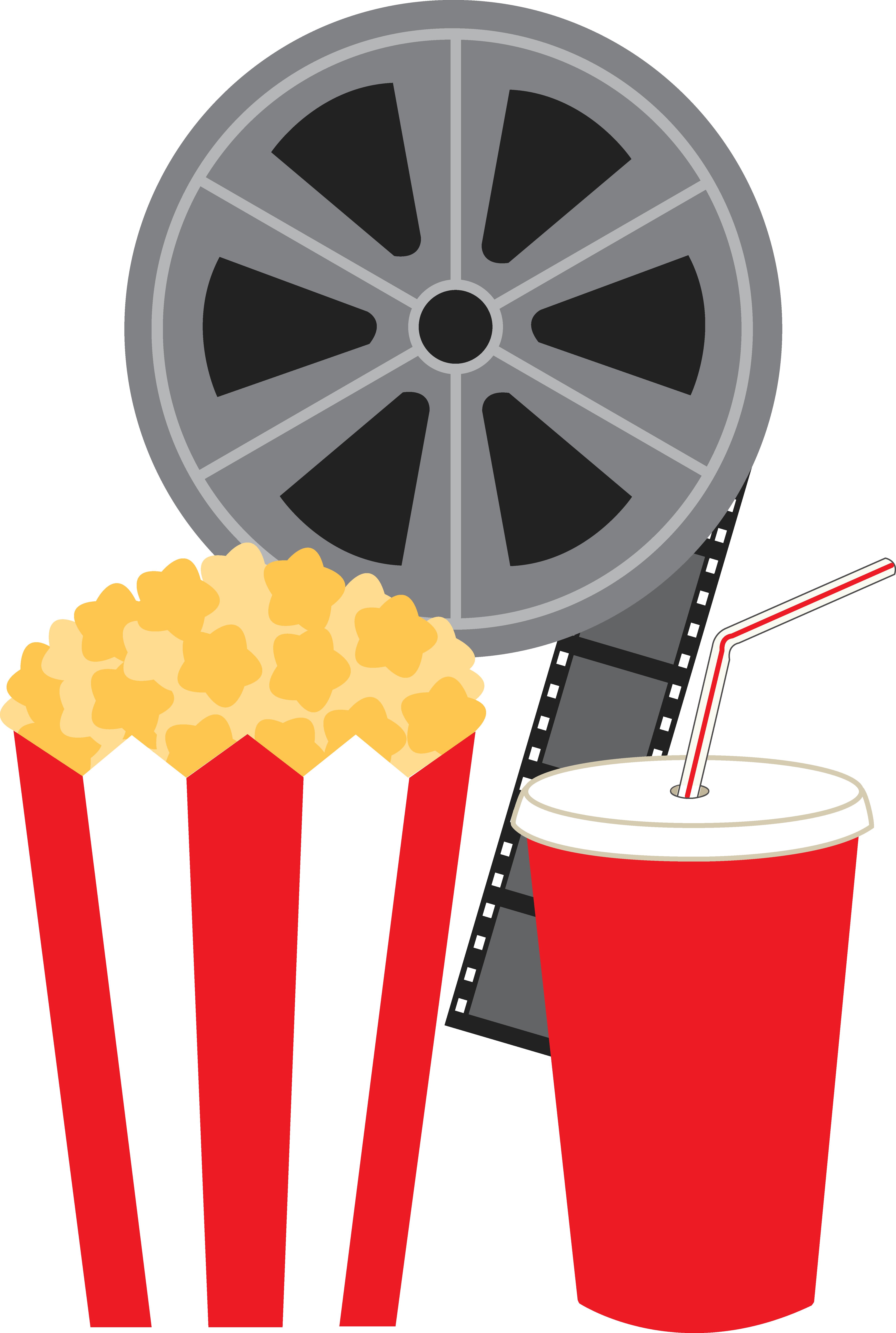 Movie and Popcorn Clip Art