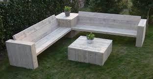 Loungebank steigerhout bouwpakket v a u ac xsteigerhout