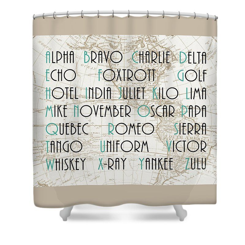 Phonetic Alphabet Shower Curtain For Sale By Delphimages Photo