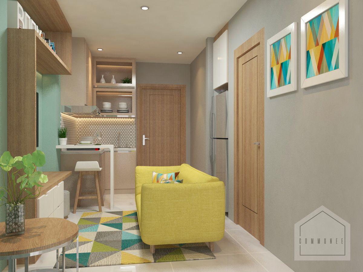 Ruang Tamu Dengan Warna Pastel Portofolio By Communee