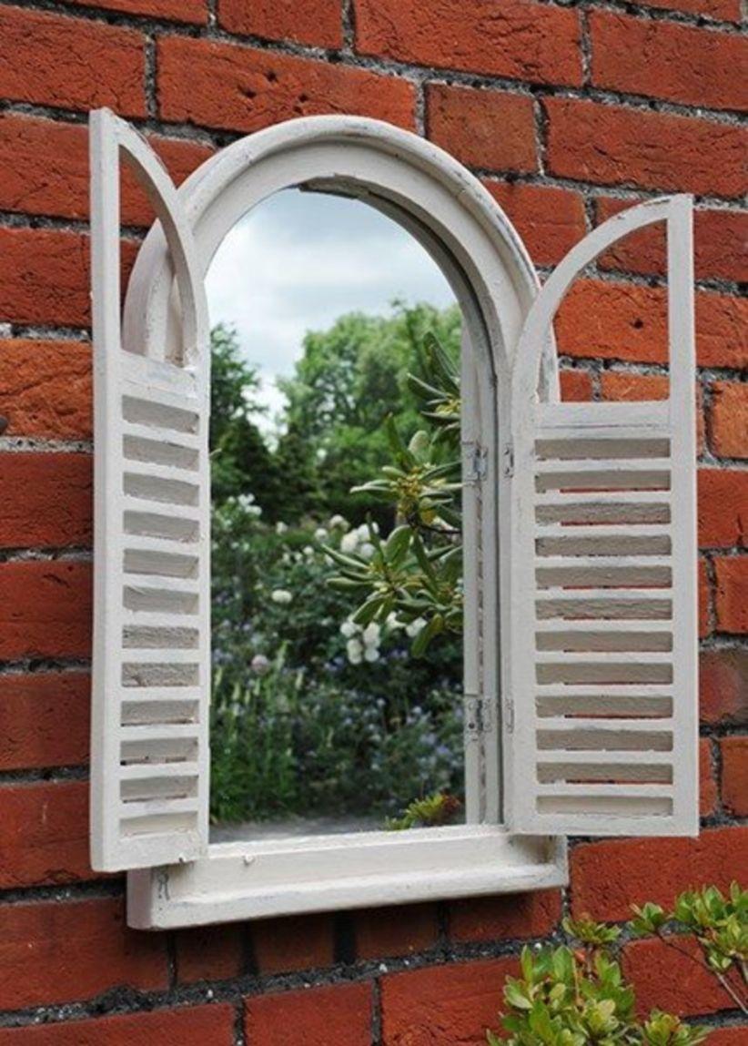 44 Inspiring Outdoor Garden Wall Mirrors Ideas Garden
