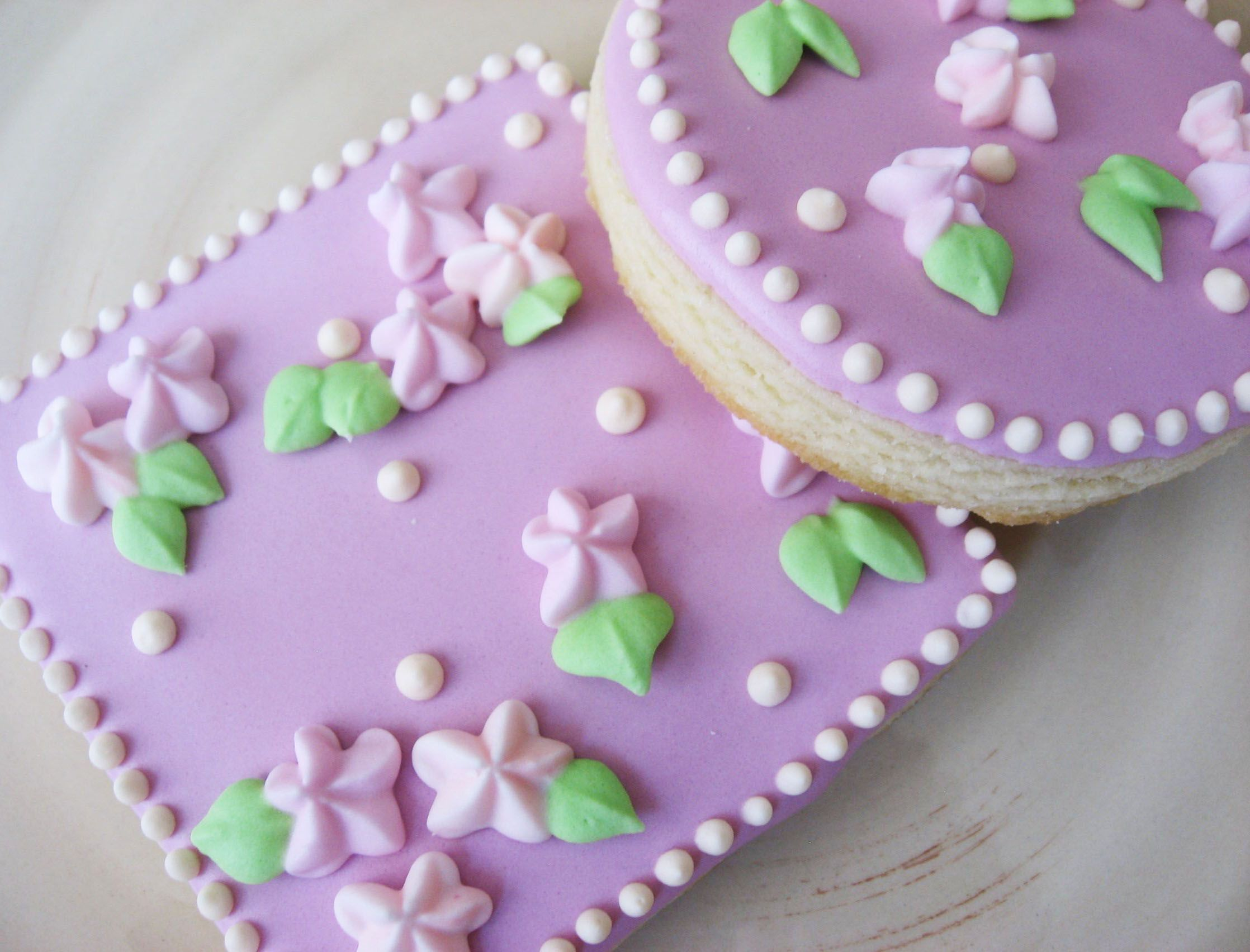 Pink Flower Cookies Facebookhappylorisbaking Cookies
