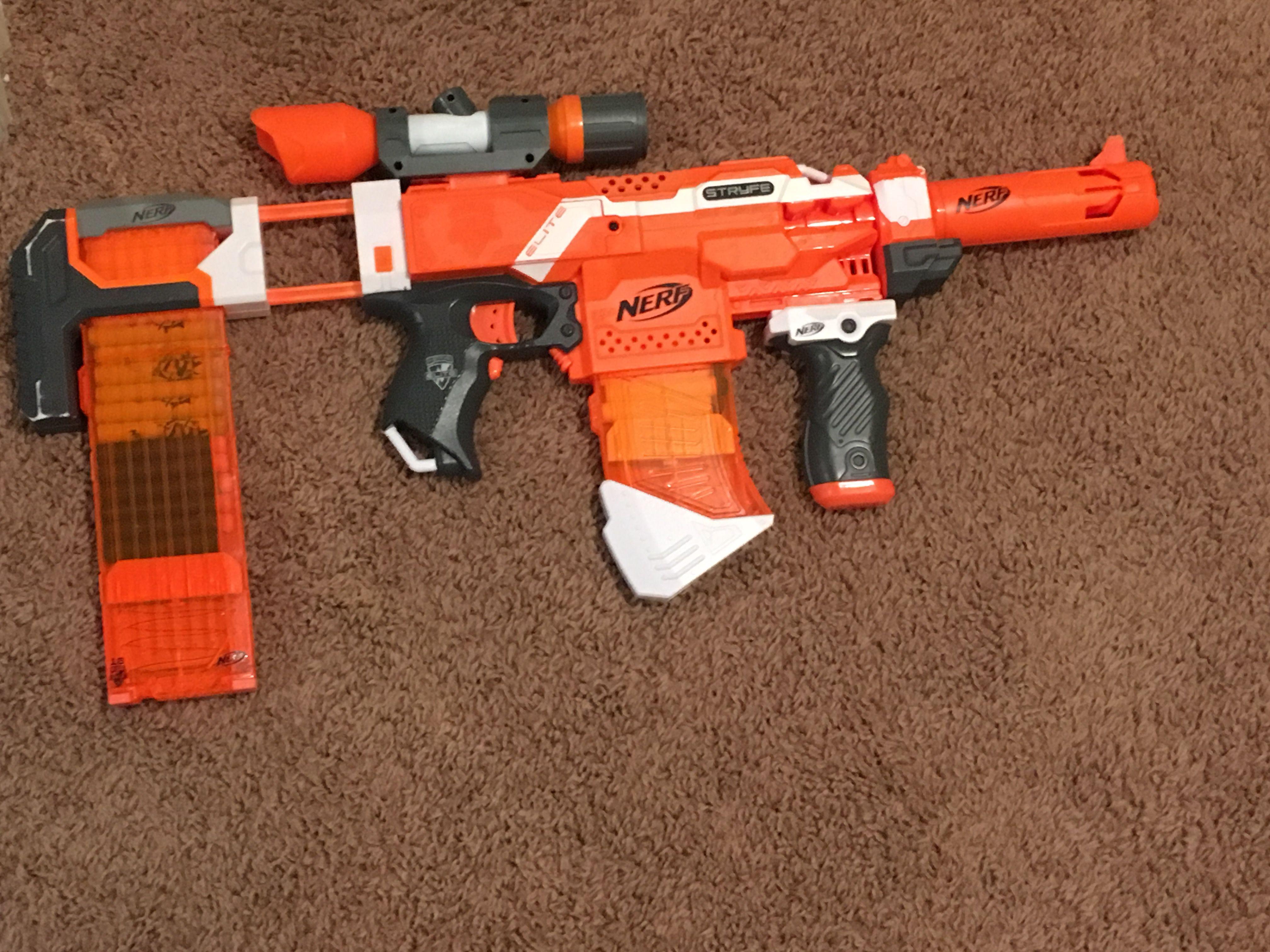 Nerf AK47 stryfe mod | Nerf | Nerf war, Nerf, Nerf mod