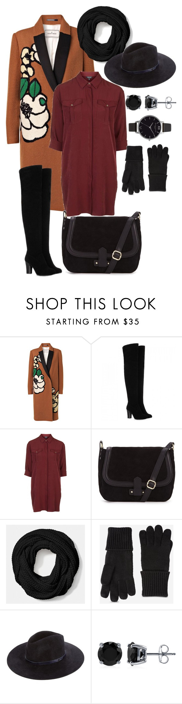 """""""97966"""" by litvinksush ❤ liked on Polyvore featuring By Malene Birger, Topshop, Coach, Y-3, rag & bone, BERRICLE and Olivia Burton"""