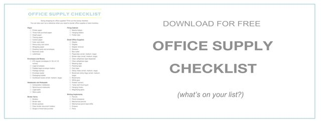 The Ultimate Office Supply Checklist Office Supplies Checklist