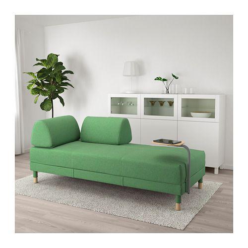 flottebo bettsofa mit ablage lysed gr n ikea ideen f r meine wohnung sofa m bel und. Black Bedroom Furniture Sets. Home Design Ideas