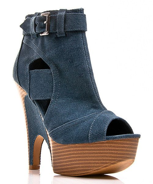 045754084c1 Take a look at the Denim Buckle Guista Bootie on  zulily today ...