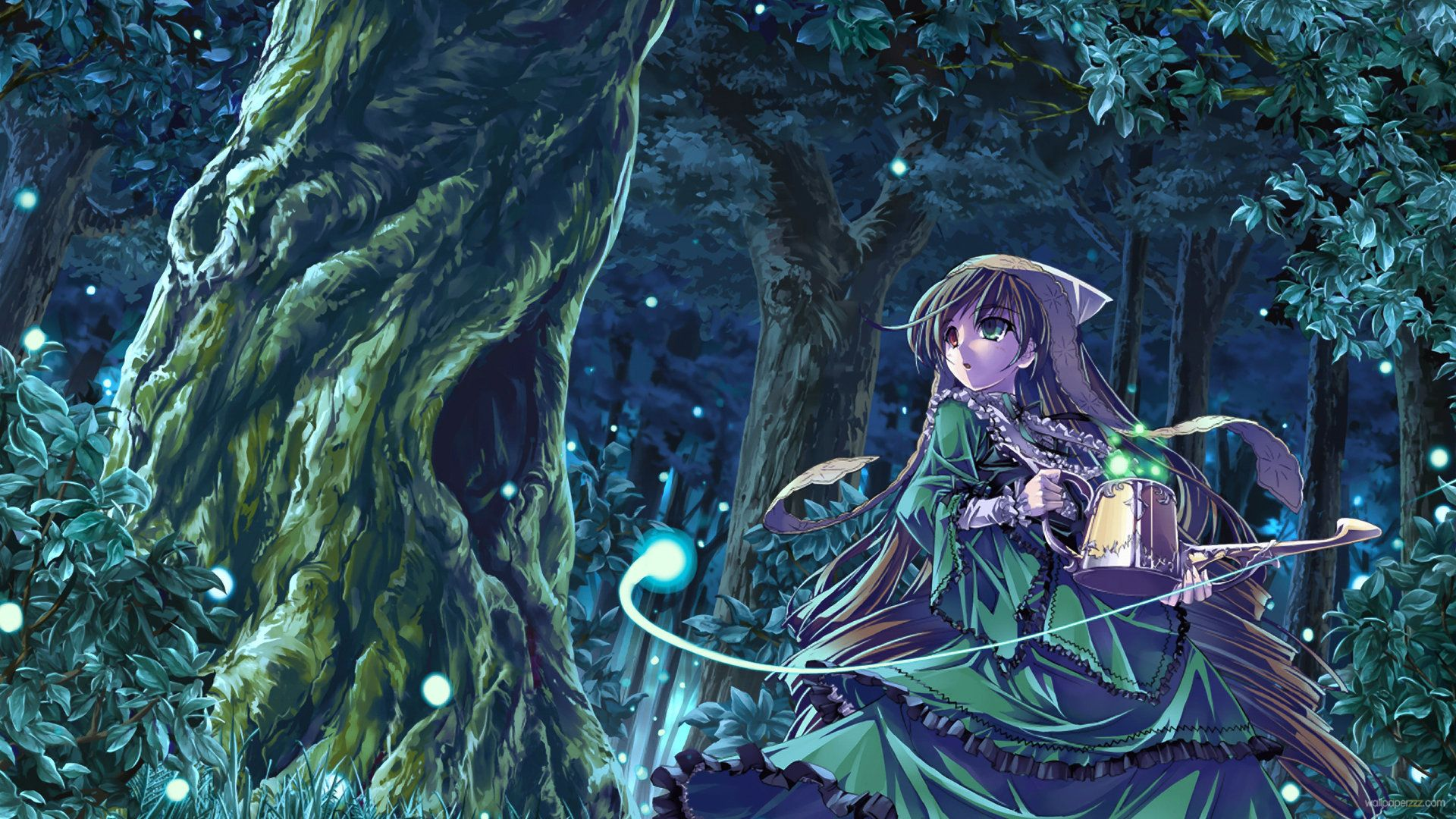 Japanese Anime Forest Rozen Maiden Night Forest Hd Anime Wallpaper Anime Wallpaper Anime Art Hd Anime Wallpapers