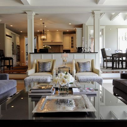 Open But Separate From Kitchen Breakfast Room Family Room Layout Design Ideas Pictures Remode Sunken Living Room Living Room Remodel Traditional Family Rooms