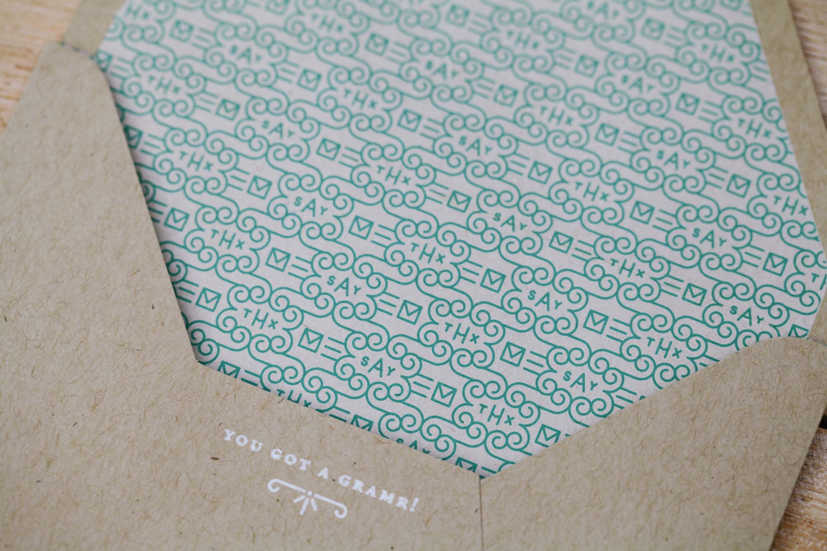 A beautiful card deserves a beautiful envelope... don't you think?