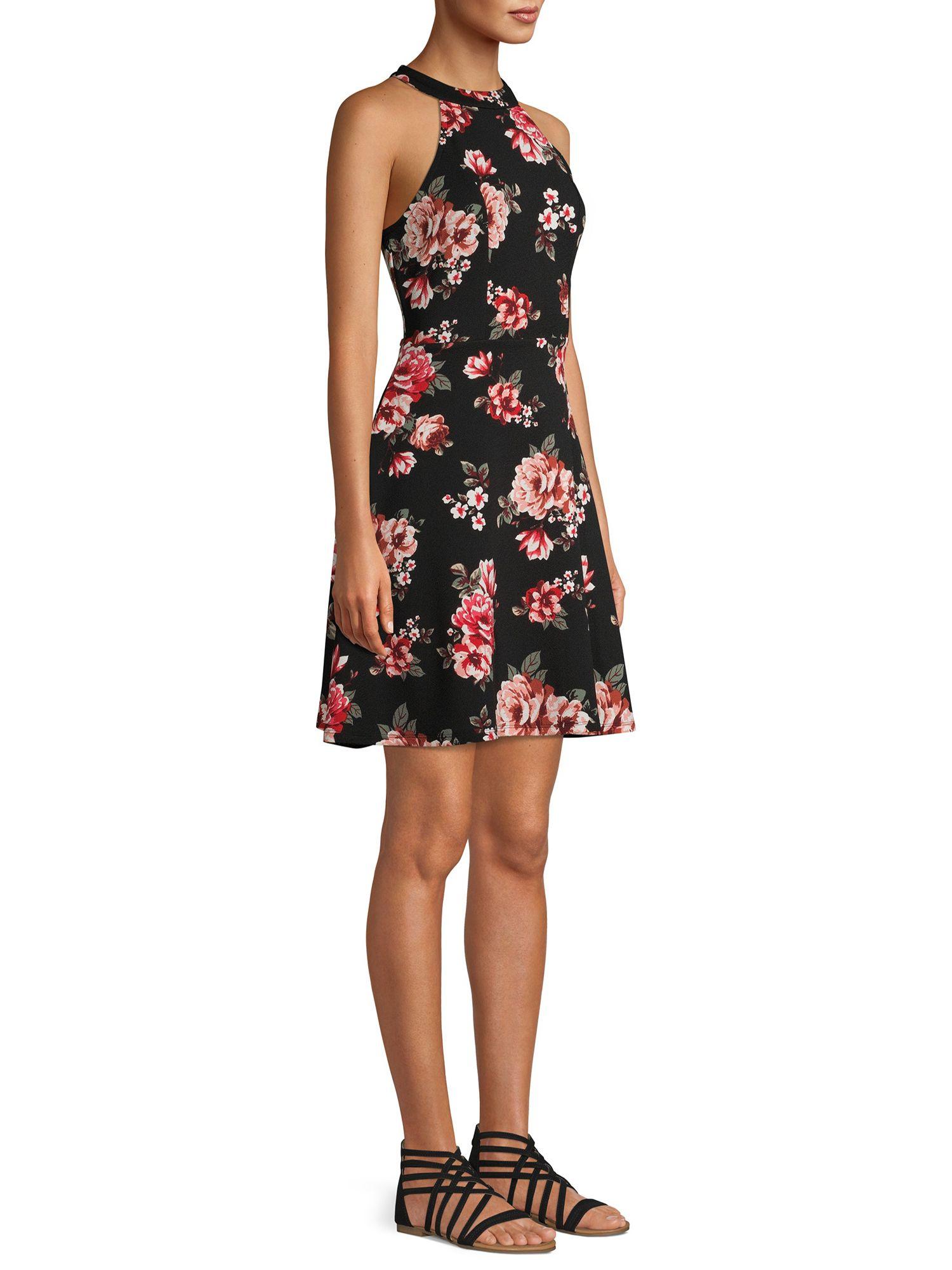No Boundaries No Boundaries Halter Neck Dress Walmart Com Halterneck Dress Dresses Fashion [ 2000 x 1500 Pixel ]